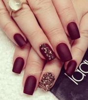 burgundy and gold nail art #nail