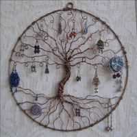 Earring Tree, Copper Tree of life, wall hanging, wall art ...