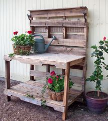 Bench Two Pallets. Sanded Wood