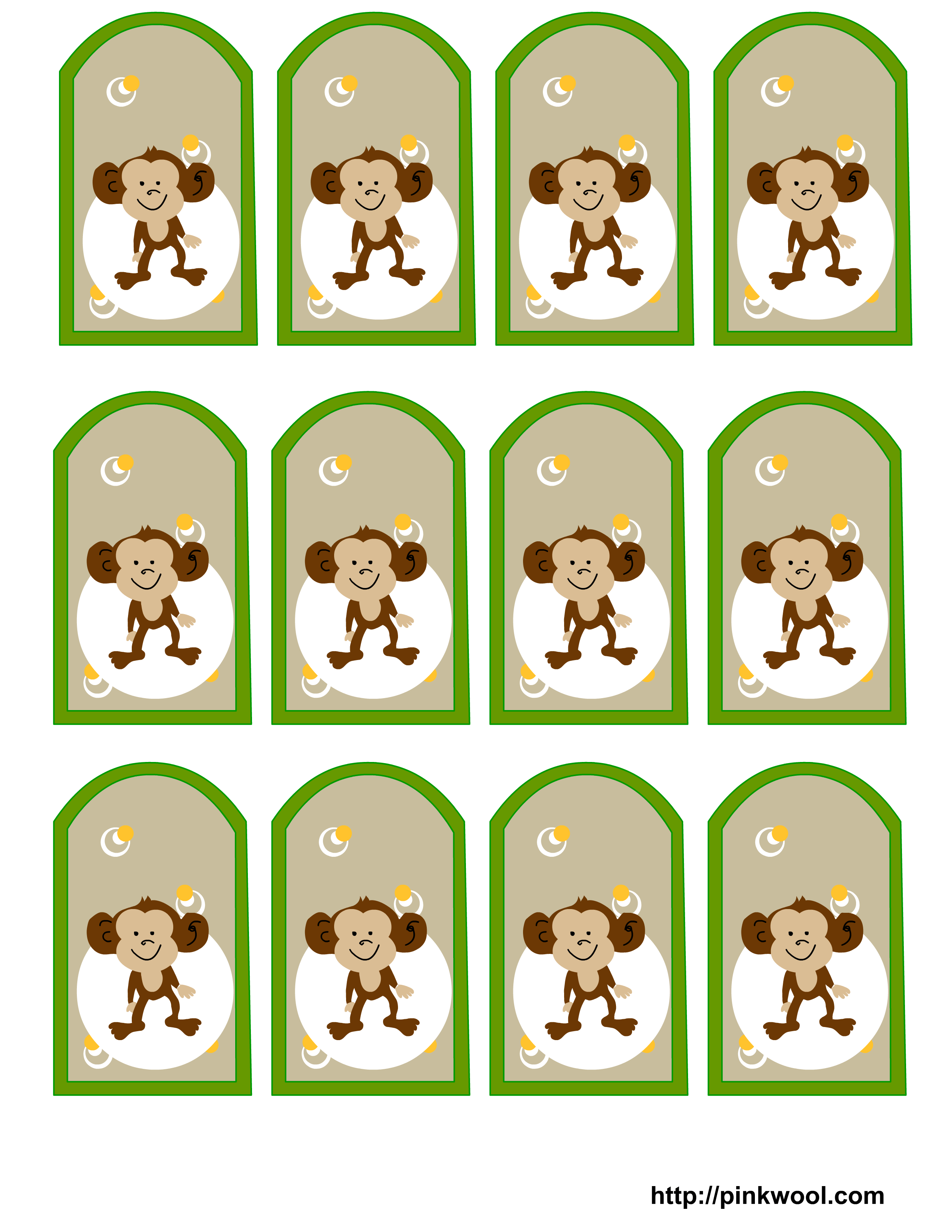 Image Detail For Free Printable Jungle Safari Themed Baby Shower Favor Tags