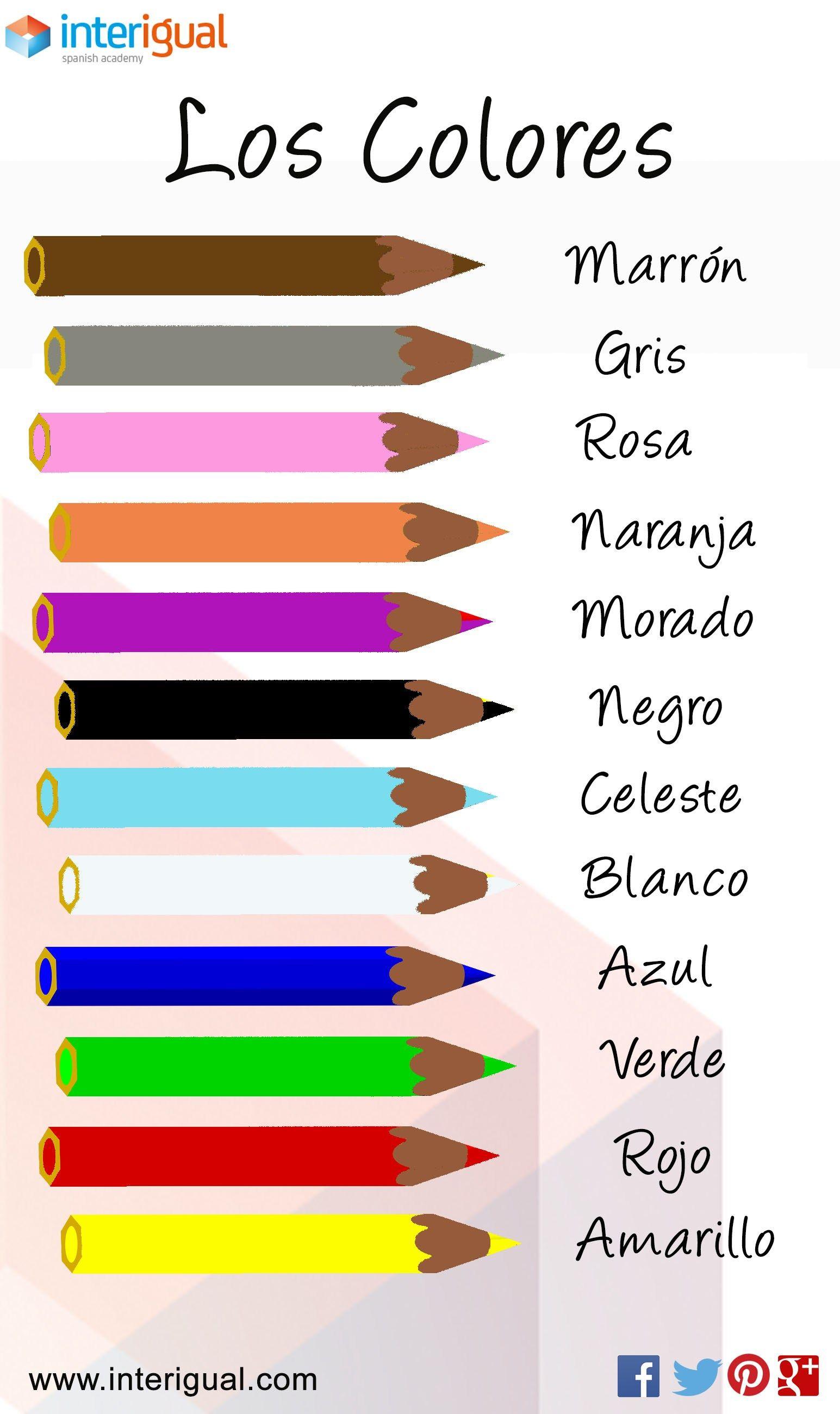 The Colors Spanish Los Colores Espanol