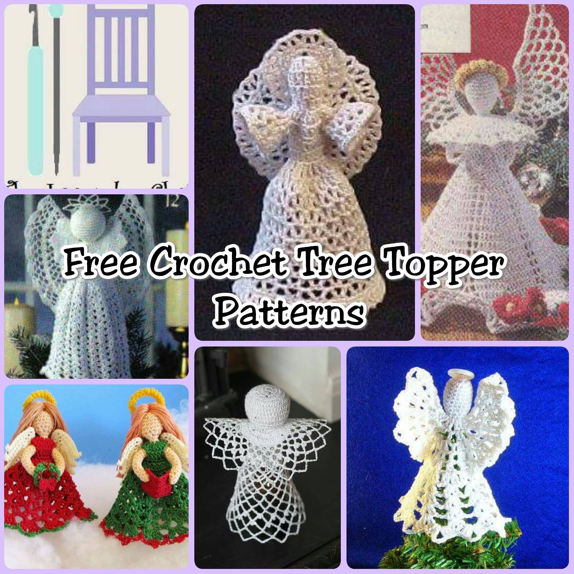 crochet christmas chair covers futon bed ikea free tree topper patterns the lavender