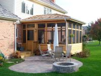 Screen Porch and Patio with Fire Pit in Hawthorn Woods, IL ...