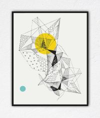 Geometric Art Faceted Crystal Triangle art Doodle art ...