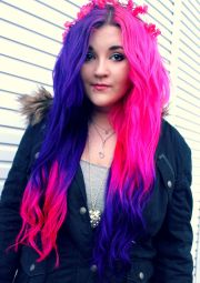 pink purple and ombre