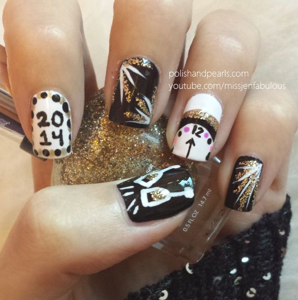 Watch this New Years Eve nail art video tutorial and
