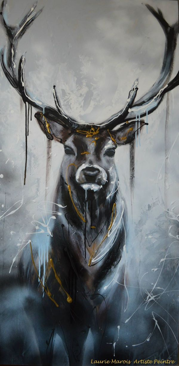 Deer Head Painting Abstract
