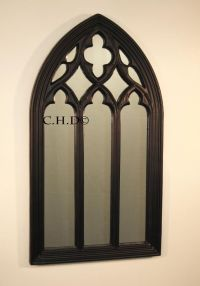Black Gothic arched church window mirror shabby chic ...