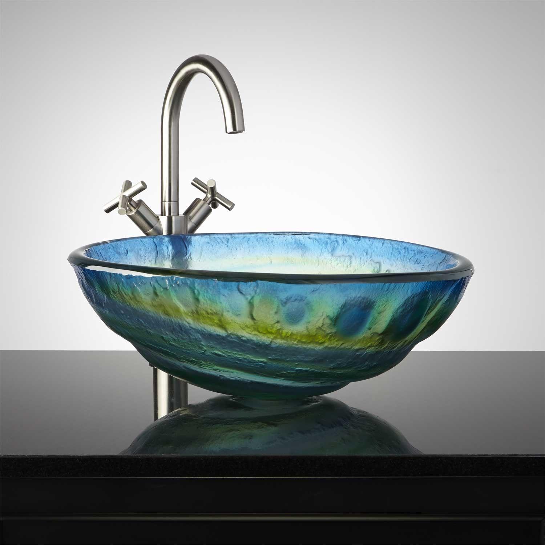 Cosmo Glass Vessel Sink  Glass vessel sinks Glass vessel