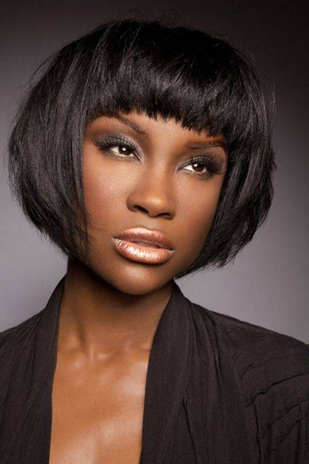 Short Bob Hairstyle For Black Women Short African American