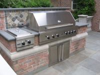BBQ-Outdoor Kitchen-Built-In-Grill-Fireplace Design Ideas ...