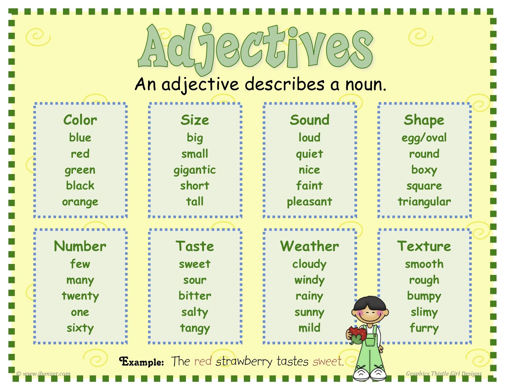 Adjectives Poster