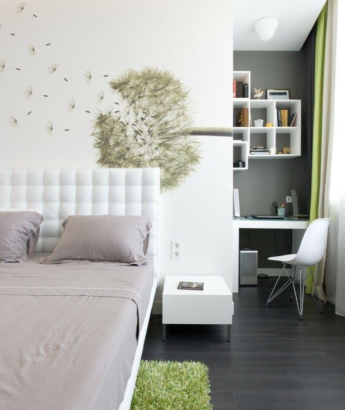 schlafzimmer deko ideen wand dekoideen pusteblume weie