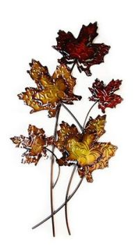 CONTEMPORARY 'RUSTIC LEAVES' METAL WALL ART