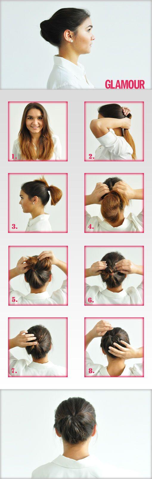 Frisuren Zum Selbermachen Business Knoten Frisur Haar Und