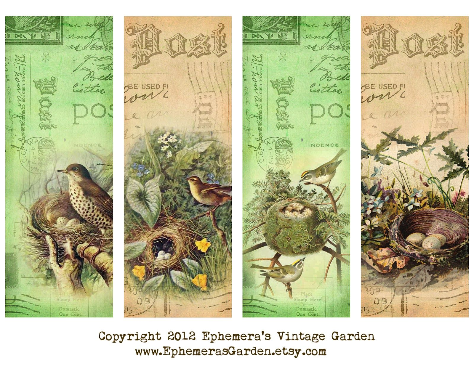Ephemera S Vintage Garden Freebies