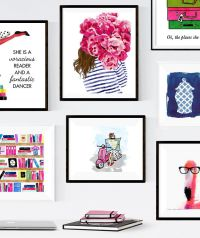 Kate Spade Inspired Gallery Wall -- Colorful, preppy, fun ...