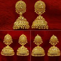 Gold Plated Jhumka Earring Indian Bollywood Women Wedding ...