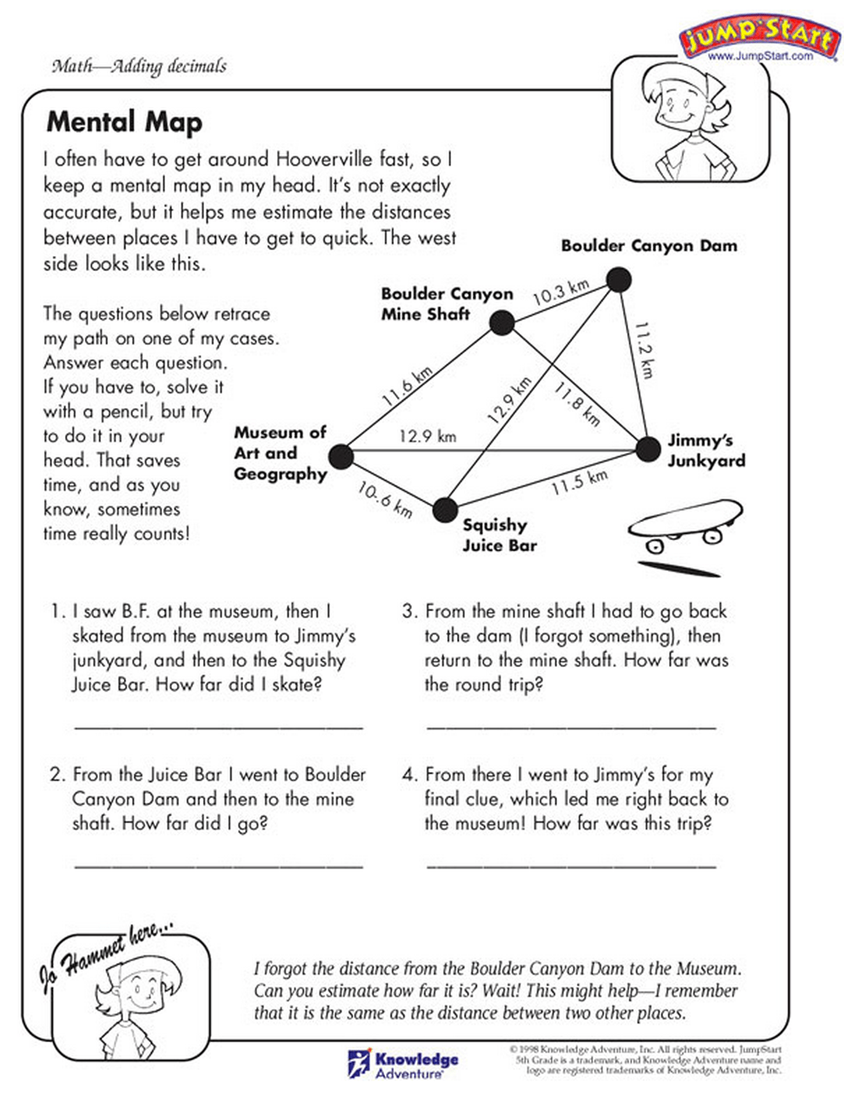 The Decimal Math Practice Sheet Read The Story To Solve The Math Problems