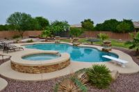 Yard Ideas: Nice Yard to play in. Diving Pool, Spa, with ...