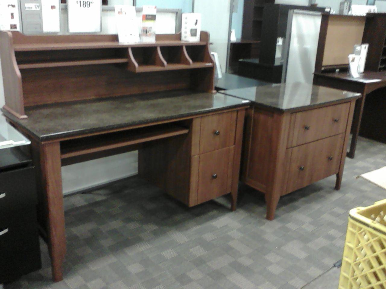Sauder Appleton computer desk hutch  lateral file