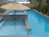 Lap pool with spa and sundeck. | Geometric Pools ...