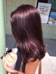 eggplant hair pinteres