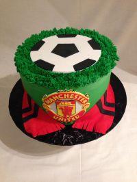 Soccer cake | Manchester United | buttercream | fondant ...