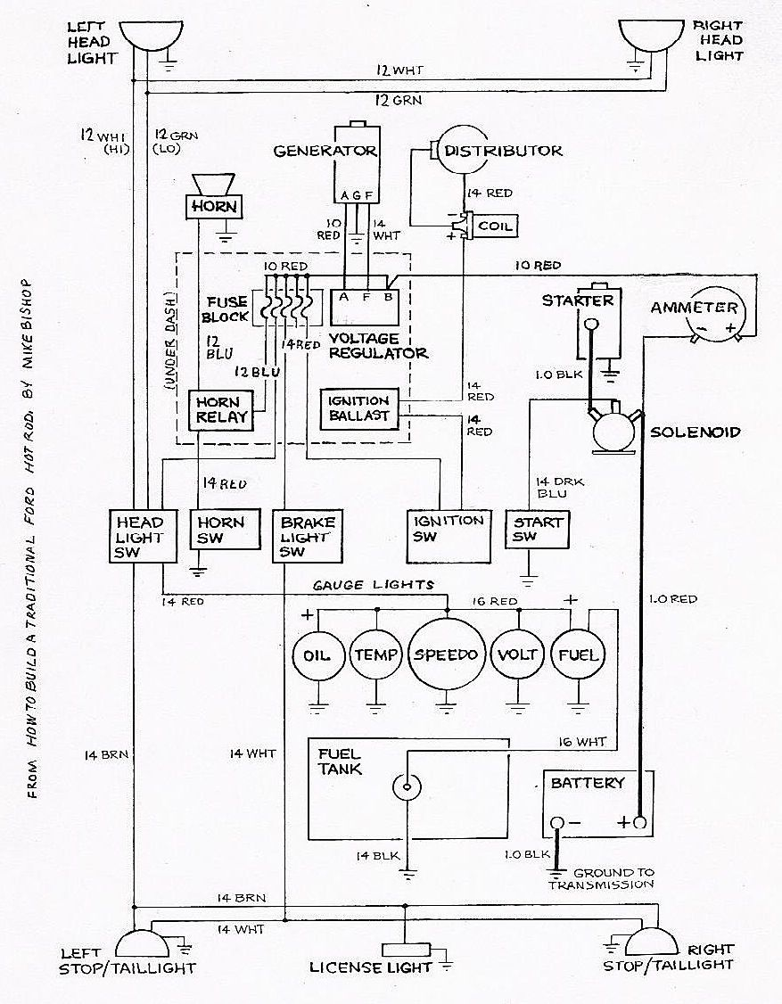 Basic ford hot rod wiring diagram hot rod tech pinterest wiring diagram