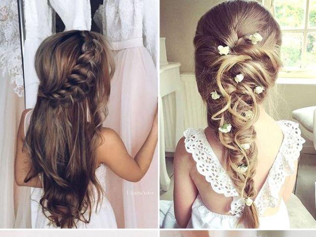 33 cute flower girl hairstyles | flower girl hairstyles, girl