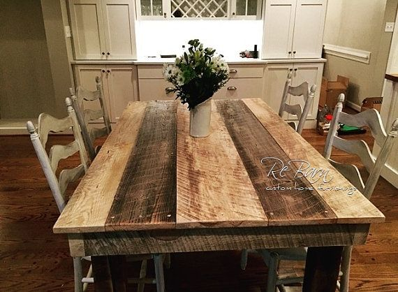 Rustic Barnwood Farm Table Dakota Collection Made in by
