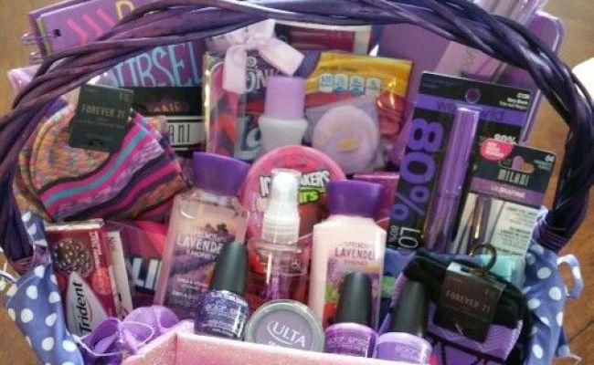 Sweet 16 All Purple Basket Gift Ideas Pinterest