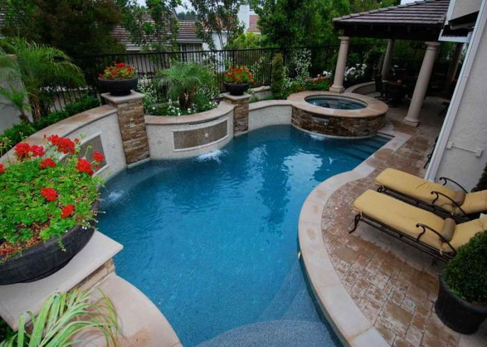 Small yard inground swimming pools pool with common design also