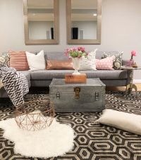 Crazy Chic Design: Modern Boho Basement | Small Apartment ...