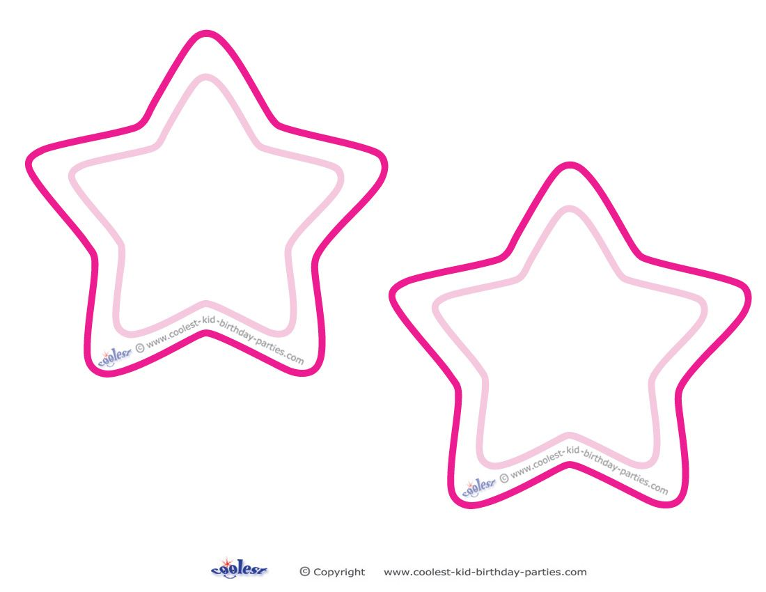 Blank Printable Round Star Invitations Coolest Free Printables