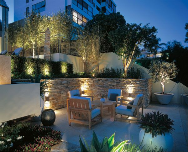 Beautiful Garden Lighting With Projectors OUTDOOR LIGTHNING