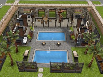 sims freeplay awesome houses floor level plans play layouts simsfreeplay patio variation saw designs homes thesims blueprints single projects 2nd