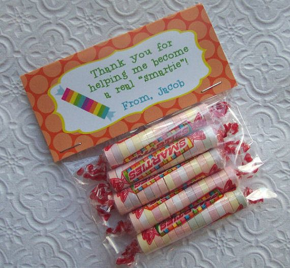 Printable Personalized Smartie Teacher Appreciation Bag