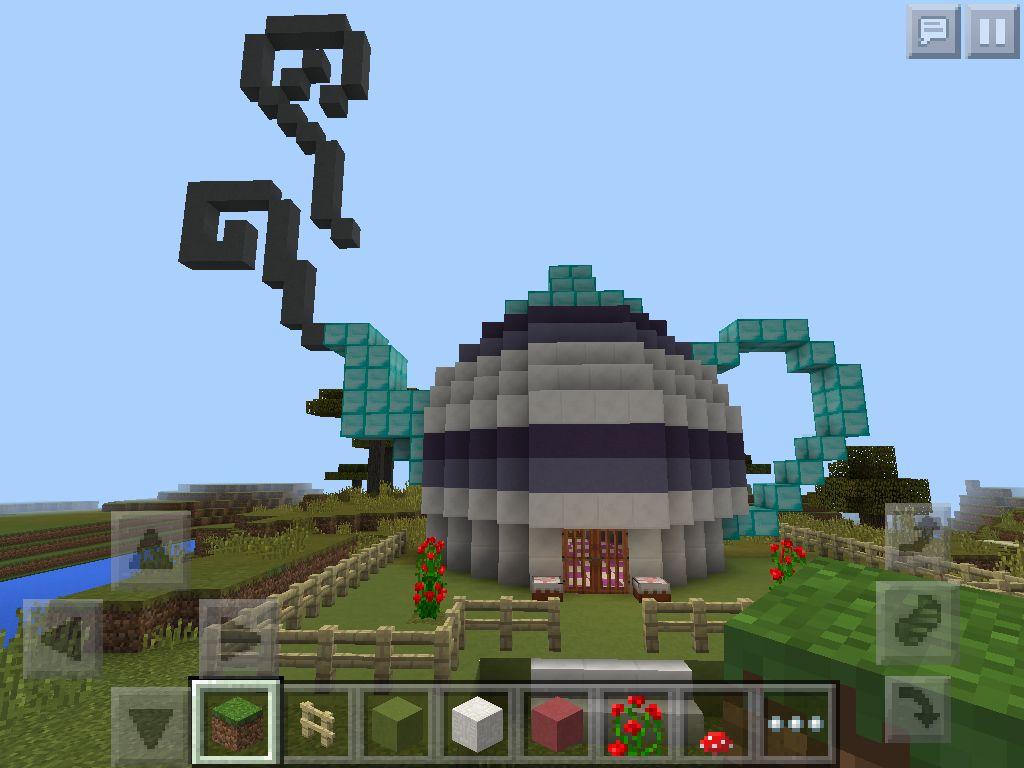 Built A Cute Teapot House In Minecraft Wood Furniture
