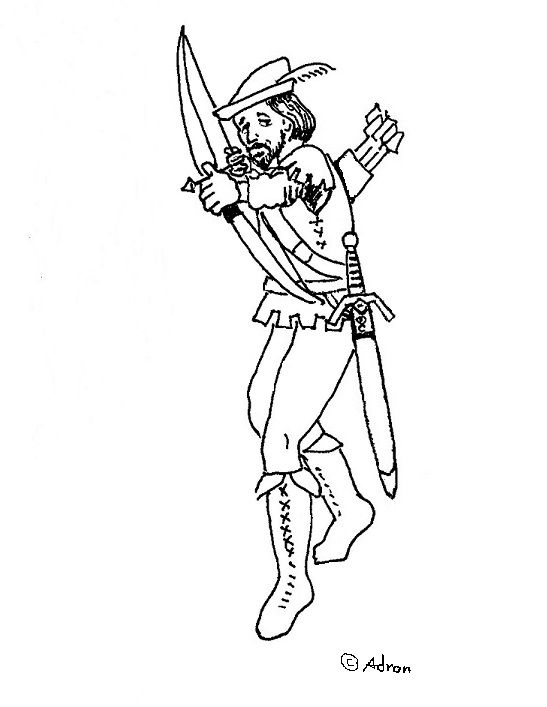 Coloring Pages for Kids by Mr. Adron: Free Robin Hood