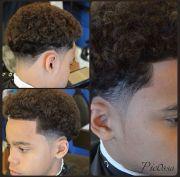 tapered cut black men haircuts