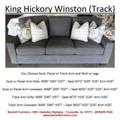 King Hickory Sofa Winston Angled Sectional Canada With Track Arm And Modern Leg