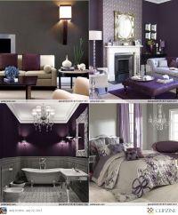 Eggplant And Grey Bedroom