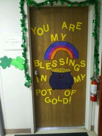 Christian take on St. Patricks day door decoration!   Mrs ...