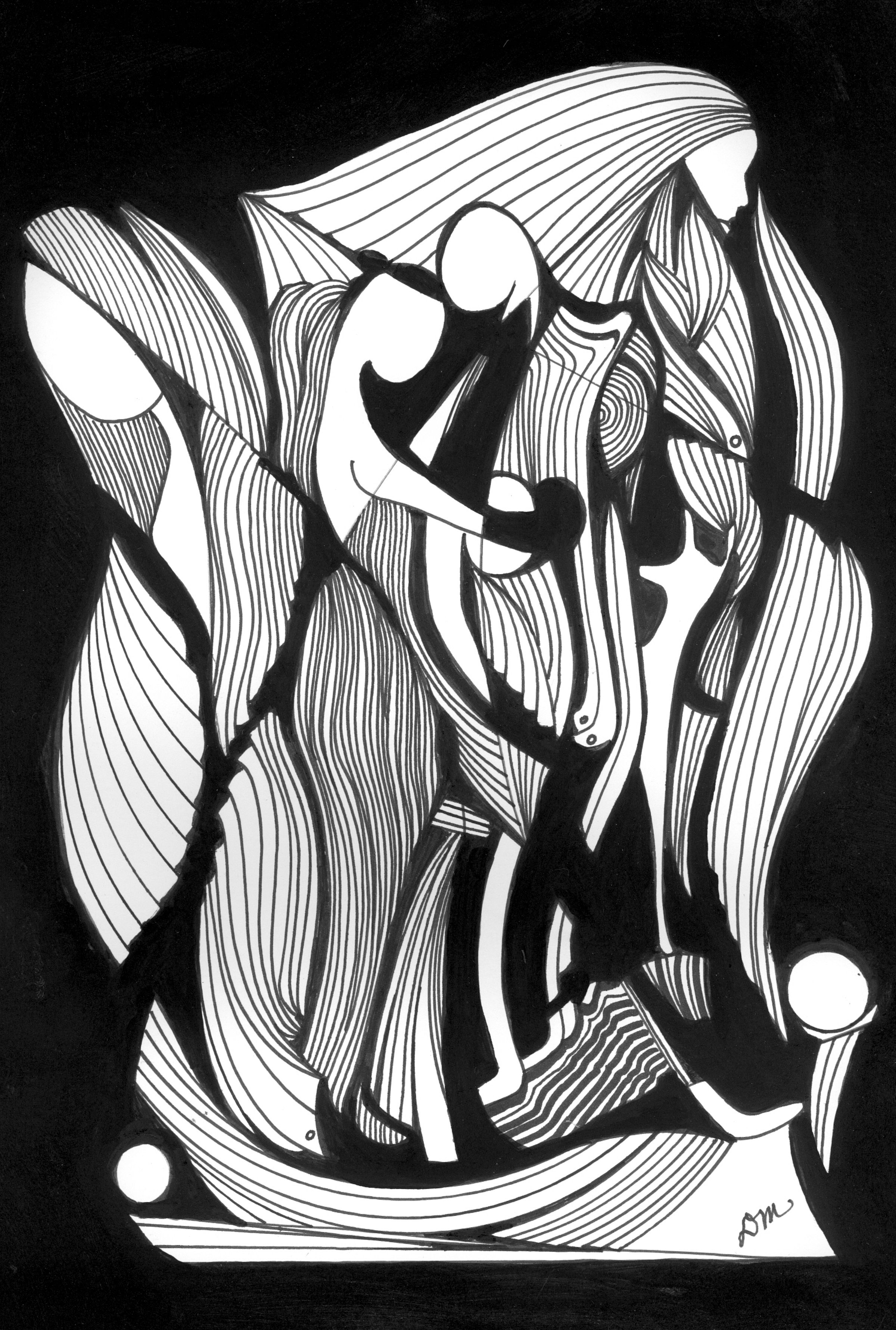 Abstract Pen Amp Ink Drawing