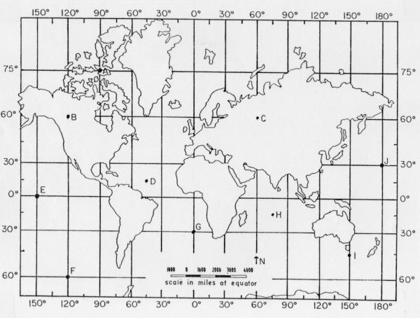 latitude and longitude practice map geography