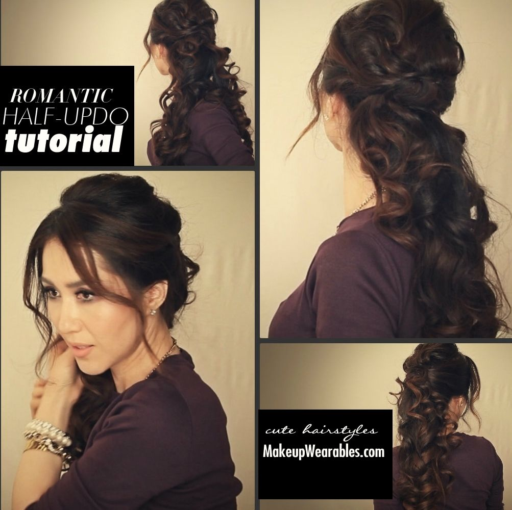 DIY Easy Romantic Curls Half Up Half Down Hairstyle Tutorial