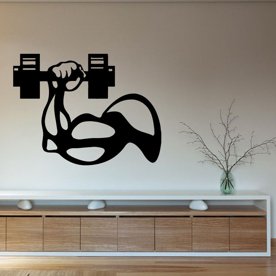 Wall Decals Sport People Bodybuilder Man's Hand with