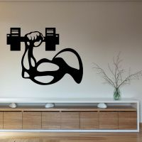 Wall Decals Sport People Bodybuilder Man's Hand with ...