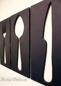 Giant Utensil Wall Art | Utensils, Dining room wall art ...